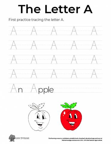 Practice Tracing the Letter A