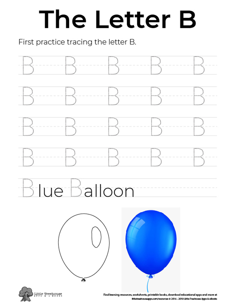 Practice Tracing the Letter B