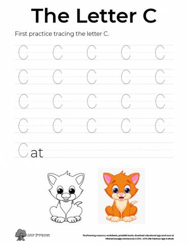 Practice Tracing the Letter C