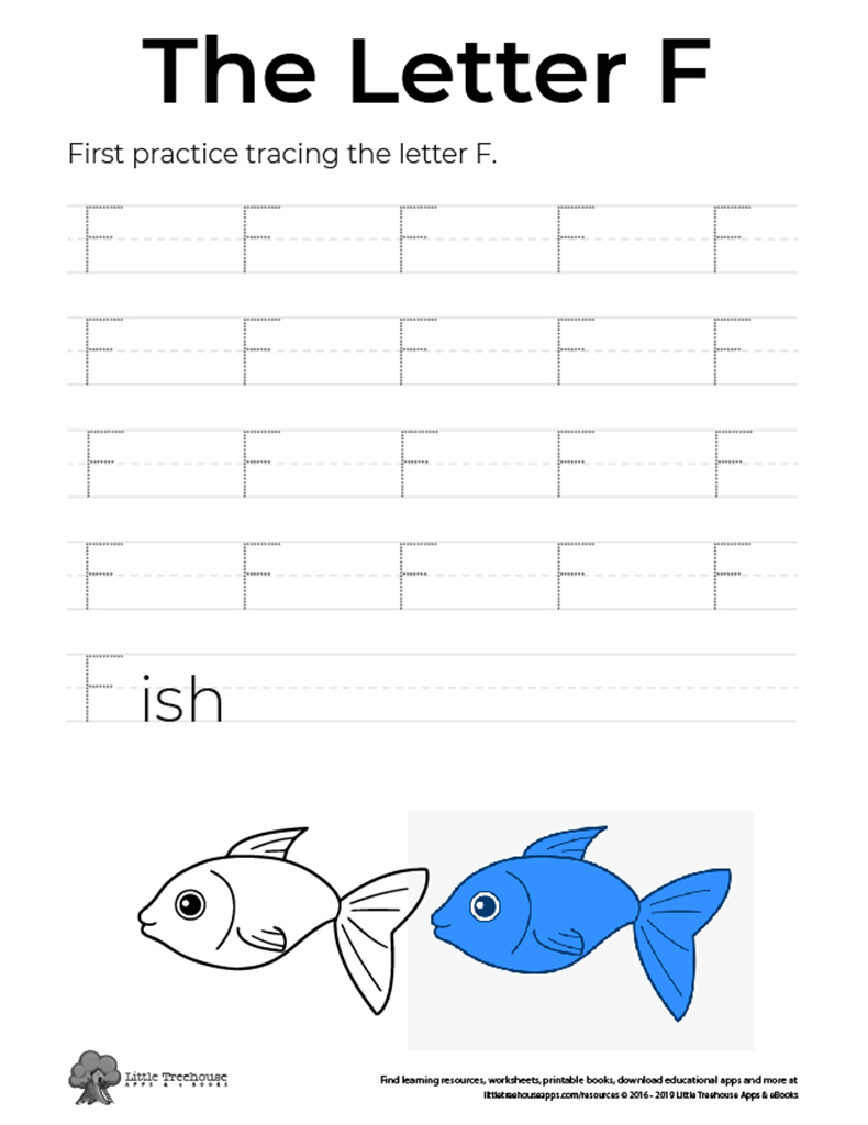 Practice Tracing the Letter F